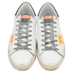 Golden Goose White/Yellow Superstar low-top sneakers Size EU 40