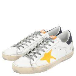 Golden Goose White/Yellow Superstar low-top sneakers Size EU 41