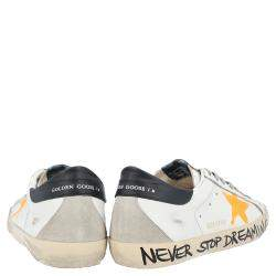 Golden Goose White/Yellow Superstar low-top sneakers Size EU 44