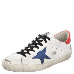 Golden Goose White/Red/Blue Superstar low-top sneakers Size 43