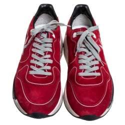 Golden Goose Red Suede Running Sneakers Size 41