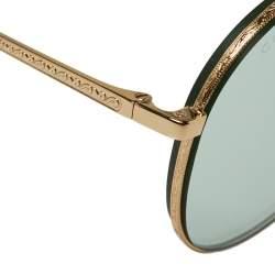 نظارة شمسية غوتشي GG0356S أفياتور أخضر و ذهبي اللون
