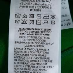 تي شيرت غوتشي كبير قطن طباعة شعار أخضر S
