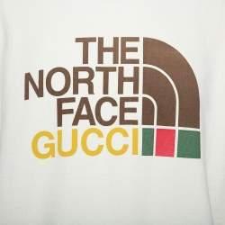 Gucci X The North Face Cream Cotton Logo Printed Sweatshirt M