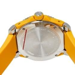 Gucci Yellow Stainless Steel Tiger Motif Dive YA136317 Men's Wristwatch 40 MM