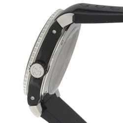 Gucci Black Stainless Steel Tiger Motif YA136318 Men's Wristwatch 40MM