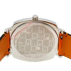 Gucci Stainless Steel Leather Grip 157.3 Unisex Wristwatch 38 mm