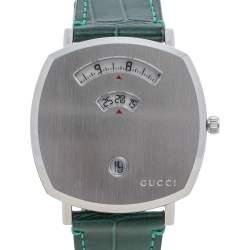 Gucci Stainless Steel & Alligator Leather Grip YA157414 Men's Wristwatch 38 mm