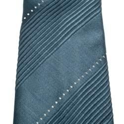 ربطة عنق تقليدية غوتشي حرير بنقوش خطوط رصاصية