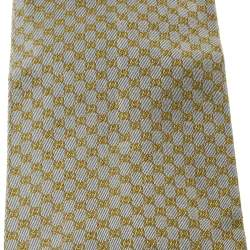 ربطة عنق غوتشي فينتدج تقليدية نمط GG جاكار حرير رصاصي