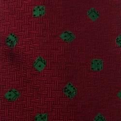ربطة عنق غوتشي حرير جاكار نمط ديس أحمر