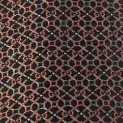 Gucci Brown Monogram Patterned Jacquard Silk Tie