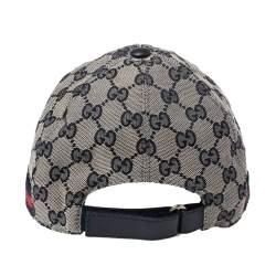 Gucci Bicolor GG Canvas Web Stripe Baseball Cap S