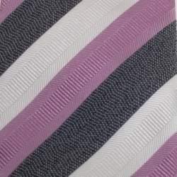 Gucci Multicolor Diagonal Striped Silk Tie