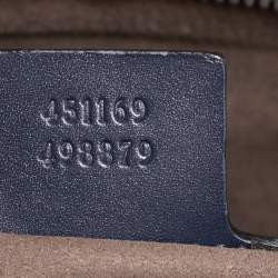 Gucci Navy Blue Guccissima Leather Briefcase
