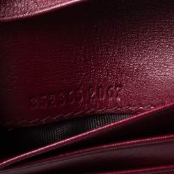 Gucci Burgundy Microguccissima Leather Bifold Card Holder