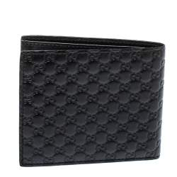 Gucci Black Microguccissima Leather Bifold Wallet
