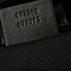 Gucci Black/Grey GG Supreme Canvas and Leather Web Tote