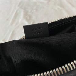 Gucci Black/Grey GG Canvas Web Messenger Bag