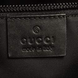 Gucci Black GG Supreme Canvas Wristlet Pouch