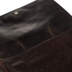 Gucci Brown Diamante Leather Messenger Bag