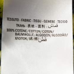 تي شيرت غوتشي قطن طباعة مخططة نمر أسود وأصفر XS