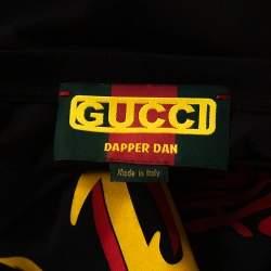 Gucci Black Cotton Dapper Dan Oversized Crew Neck T Shirt M