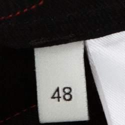Gucci Black & Red Satin Panther Applique Bowling Shirt M