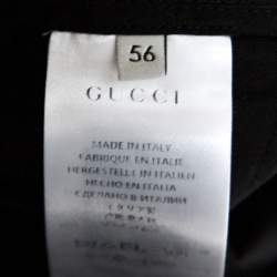 Gucci Black Cotton Straight Leg Chino Trousers XXXL