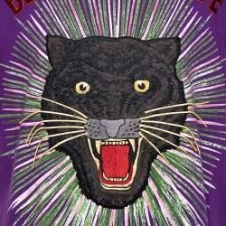 Gucci Purple Cotton Sequin Embellished Tiger Applique Blind For Love T Shirt L