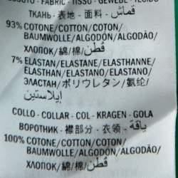 Gucci Green Pique Knit Contrast Collar Detail Polo T Shirt M