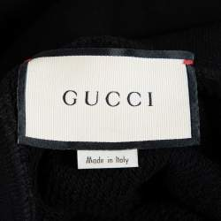 Gucci Black Cotton Guccify Yourself Printed Hoodie L
