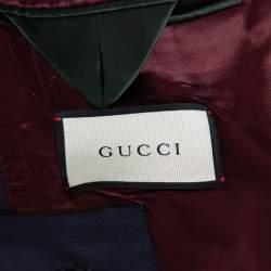Gucci Navy Blue Wool Regular Fit Suit L