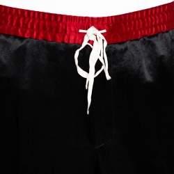 Gucci Black Sateen Side Strip Detail Track Pants M