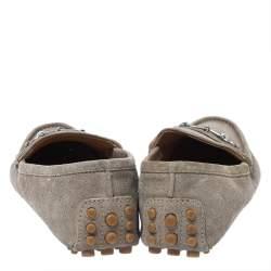Gucci Beige Suede Horsebit Loafers Size 41