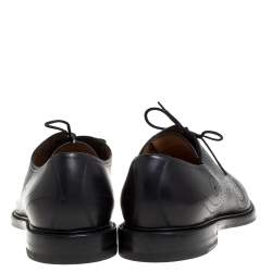 Gucci Black Brogue Detail Leather Oxfords Size 44