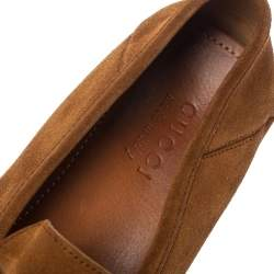 Gucci Brown Suede Leather GG Marmont Slip On Loafers Size 42.5