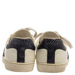 Gucci White Leather Ace Low Top Sneakers Size 39.5