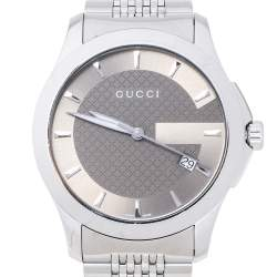 Gucci Brown Stainless Steel G-Timeless 126.4 Men's Wristwatch 38 MM