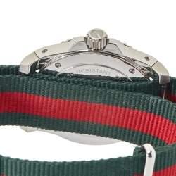 Gucci Black Stainless Steel & Nylon Dive YA136206 Men's Wristwatch 45 mm