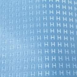 Hermès Bleu Ciel Faconnee H Silk Jacquard Tie