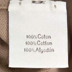 Hermes Brown Cotton Pique Striped Collar Polo T-Shirt XXL