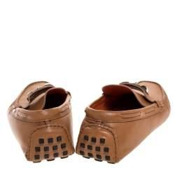 Hermes Brown Leather Irving Loafer Size 42.5