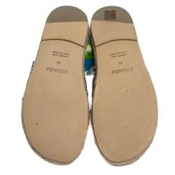 Hermes Black Leather Antigua Espadrille Sandals Size 41