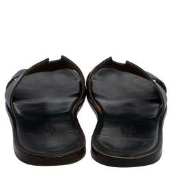 Hermes Blue Leather Izmir Sandals Size 43
