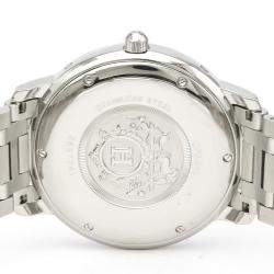 Hermes Silver Stainless Steel Clipper CP2.810 Automatic Men's Wristwatch 39 MM