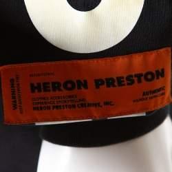 Heron Preston Black Cotton Graphic Skull Print Long Sleeve T Shirt M