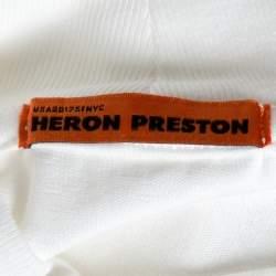 Heron Preston White CTNMB Embroidered Cotton Turtleneck T-Shirt M