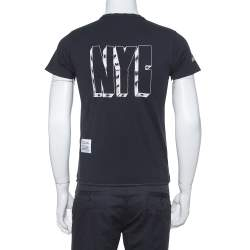 Heron Preston Black CTNMB Spray Paint Cotton Crew Neck T-Shirt XS