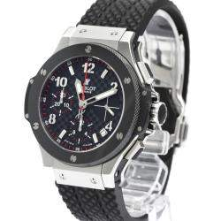 Hublot Black Ceramic And Stainless Steel Big Bang Chronograph Automatic 342.Sb.131.Rx Bf517543 Men's Wristwatch 41 MM